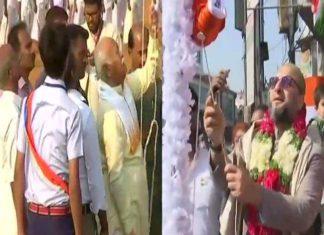 69th Republic Day, Mohan Bhagawt, RSS, Asaduddin Owaisi, Flag Hoisting,
