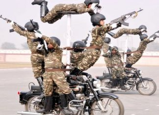 Republic Day, Sema Bhawani, BSF , Rajpath, Bike Stunt