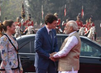 Justin Trudeau, Canadian PM, PM Modi, Gaurd Of Honour, Hyderabad House