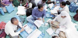 Gujrat Civic Polls, Counting, BJP, Congress
