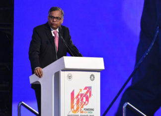Tata Group, N CHandrashekharan, TCS, Employment, UP Investors Summit 2018, Subhash CHandra