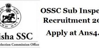 OSSC-Sub-Inspector-Recruitment-2018-