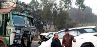BJP MLA, Road Accident, Sitapur, MLA Lokendra Singh