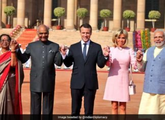 French President, Emmanuel Macron, PM Modi, Gaurd Of Honour,
