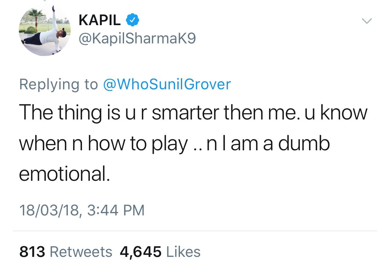 kapil sharna tweet