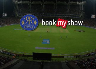 IPL-11 Rajashtan Royals Partner Book My Show