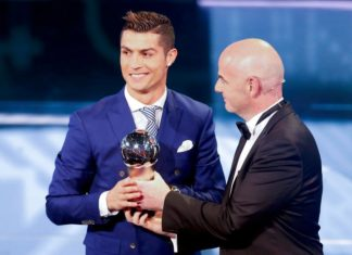 Cristiano Ronaldo become best footballer of Portugal 2017