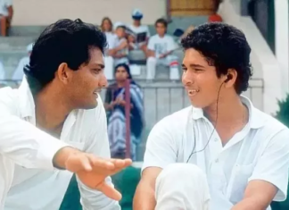 sachin with azhar
