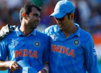 shami with dhoni