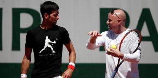 Andre Agassi With Novak Djokovic