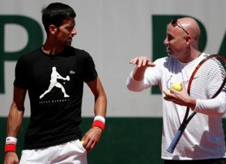 Andre Agassi With Novak Djokovic