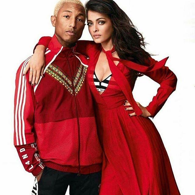 Bollywood Actress,Aishwarya Rai,American Rapper,Pharrell Williams,Magazine cover Photoshoot,Vogue