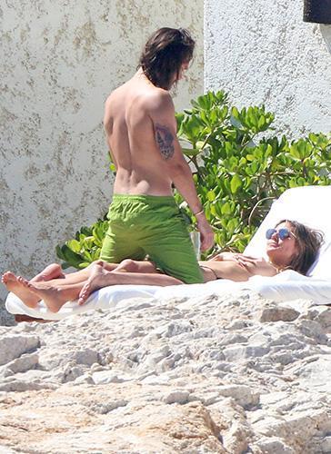 Hollywood Actress,Heidi Klum,Tom Kaulitz,Topless Pictures
