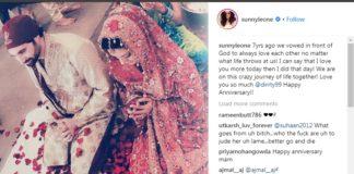 Bollywood Actress,Sunny Leone,Porn Star Sunny Leone,Wedding Anniversary