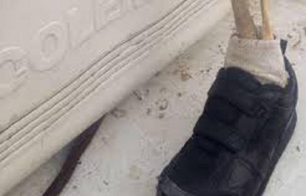 Canadian police, human foot