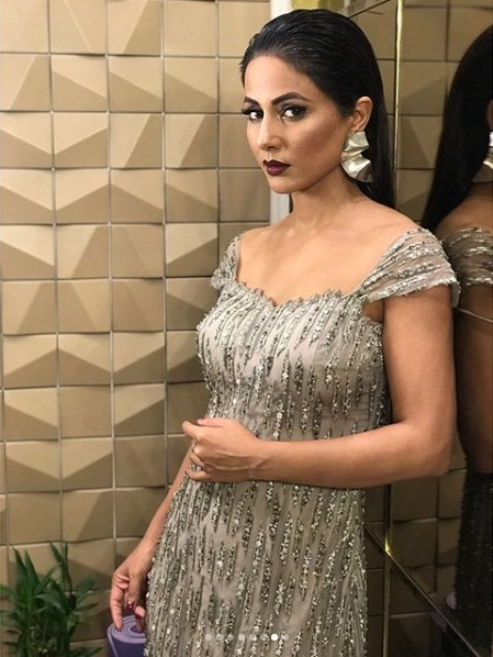 Hina khan,stylish diva,gold awards 2018