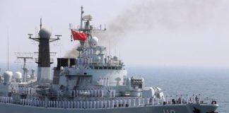 China, India, Indian Ocean, Warship