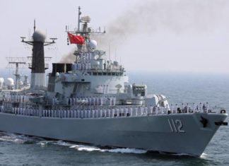 China, India, Indian Ocean, Warship