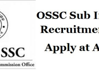 OSSC-Sub-Inspector-Recruitment-2018-
