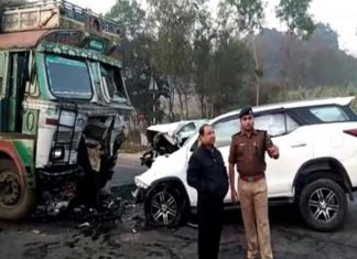 BJP MLA, Road Accident, Sitapur, MLA Lokendra Singh
