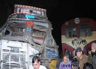 Train-Truck Collision, Hapur, Gateman, Accident