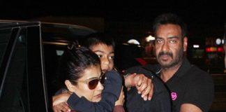 Bollywood Actor,Ajay Devgan,Kajol,Son Yug Devgan,Daughter Nysa Devgan,Mumbai Airport