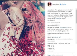 Bollywood Actress,Sunny Leone,Porn Star Sunny Leone,Wedding Anniversary