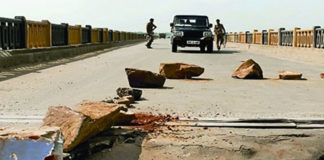 Madhya Pradesh,Chambal bridge, traffic restricted
