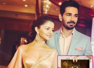 Rubina dilaik,abhinav,reception card