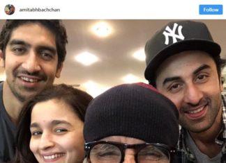 Bollywood Actor,Amitabh Bachchan,Share Selfie,Alia Bhatt,Ranbir Kapoor,Brahmastra Shooting