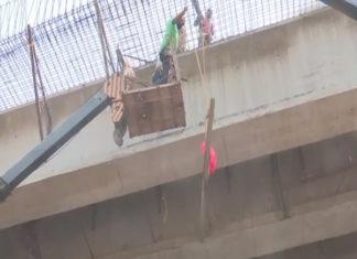 Varanasi, Babetpur road, under construction bridge ,accident, wounded death