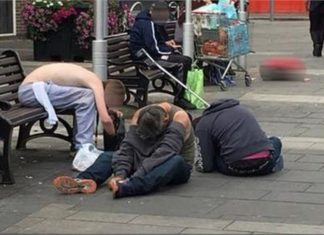 Britain, Drug Addict boys pics, viral, social media