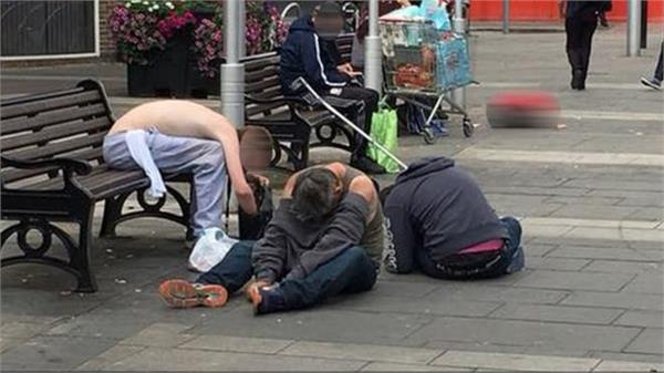 Britain, Drug Addict boys pics, viral, social media