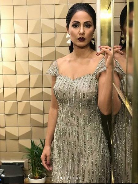 Hina khan,stylish diva,gold awards 2018