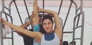Jacqueline Fernandez,workout,video,shares,Instagram