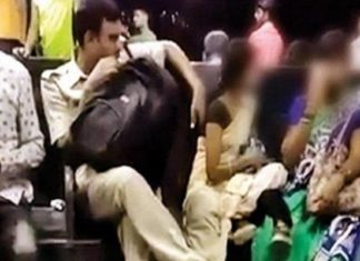 Mumbai Policeman, Shameful act, molestation, social media, video, ofiicers