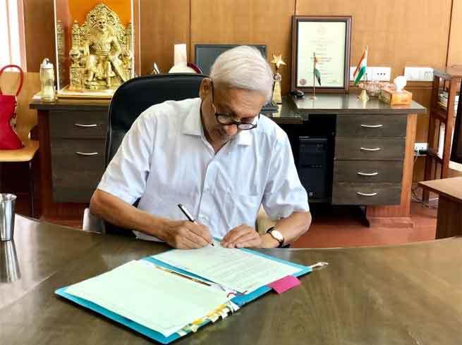 Goa CM, Manohar Parrikar, America, Devaki Krishna Temple, CM Office