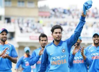 kuldeeptrent-bridge-picks-up-his-first-5-wkt-haul-in-odis-becomes-the-first-left-arm-wrist-spinner-to-pick-up-6-wickets-in-odi-cricket