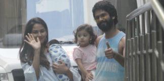 first picture,shahid kapoor,mira kapoor,son zain kapoor,misha kapoor